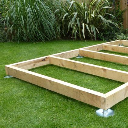 quickjack kit 3m x 3m log cabin or garden building kit. Black Bedroom Furniture Sets. Home Design Ideas